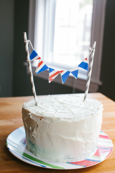 Patriotic Checkerboard Cake